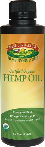 Manitoba Harvest Certified Organic Hemp Oil -- 8.4 fl oz