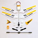 Full Set Replacement Parts for Syma S107 RC Helicopter, Main Blades, Main Shaft, Battery, Tail Decorations, Tail Props, Balance Bar, Gear Set,Connect Buckle-Yellow Set-