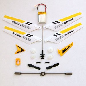 Full Set Replacement Parts for Syma S107 RC Helicopter, Main Blades, Main Shaft, Battery, Tail Decorations, Tail Props, Balance