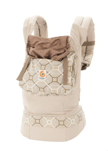 ERGObaby Organic Baby Carrier, Lattice/Taupe
