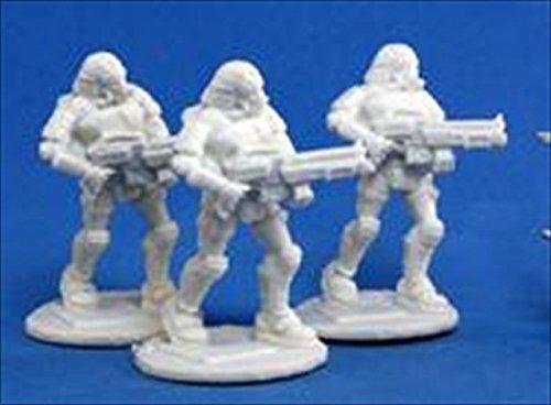 Reaper Miniatures 80015 Bones - Chrono Nova Corp Rifleman 3 Miniature by Reaper