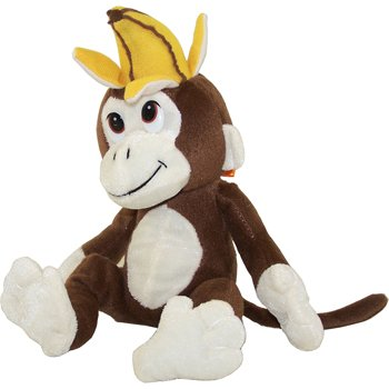 Generic Value Plush - BROWN MONKEY with Banana Hat ( 10 inch )