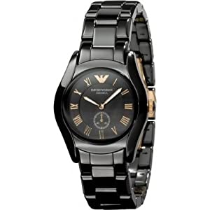 Emporio Armani Women's AR1412 Black/Black Mother Of Pearl Watch