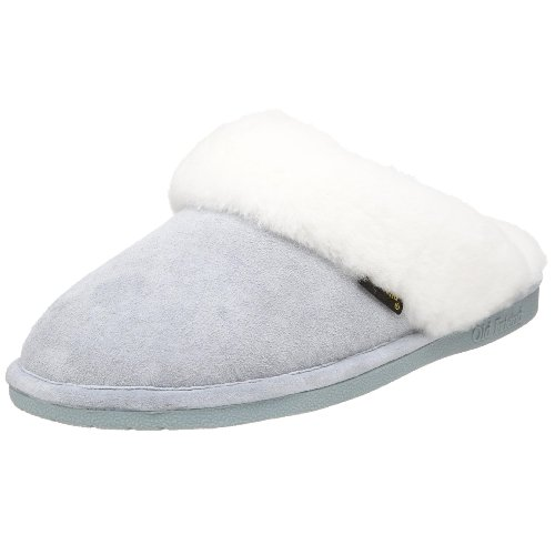 Old Friend Women's 441169 Scuff Sheepskin Slipper,Light Blue,Large (8-9 M)