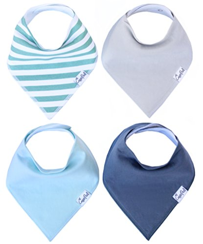 Baby-Bandana-Drool-Bibs-for-Drooling-and-Teething-4-Pack-Gift-Set-For-Boys-Oxford-Set-by-Copper-Pearl