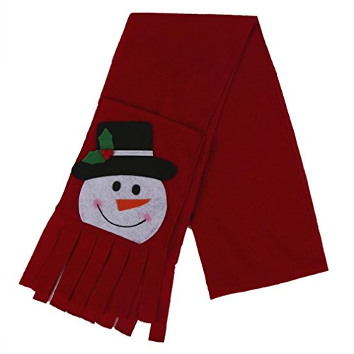 christmas-scarfmorecome-gift-redsnowman-style-neck-wrap-with-2-pocket