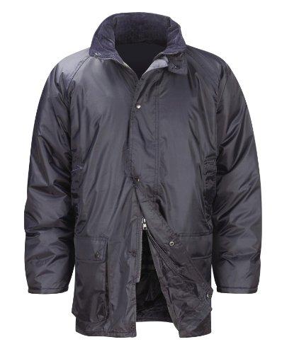 Black Knight JKWB Weather King - Giacca imbottita con cappuccio pieghevole, taglia XS, colore: Nero