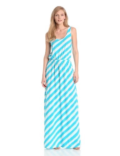 Lilly Pulitzer Women's Tria Maxi Dress, Turquoise Roper Stripe, X-Large
