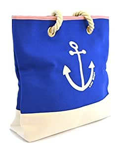 LSW Ladies Nautical Style Anchor Canvas Shoulder Bag