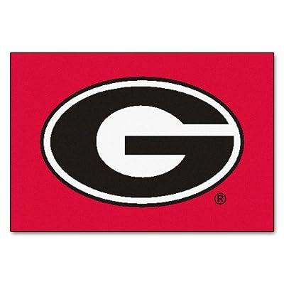 FANMATS NCAA University of Georgia Bulldogs Nylon Face Starter Rug