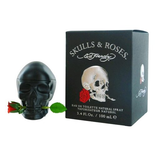 Christian Audigier Ed Hardy Skulls and Roses Eau de Toilette Spray for Men, 3.4 Ounce
