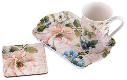Beautiful Garden - Time For Tea - Mug Coaster & Tray Gift Set