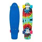 Penny Nickel Authentic Original Plastic Vinyl Cruiser Skateboard Complete 27 Tie Dye by Penny