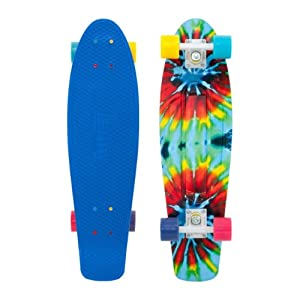 Buy Penny Nickel Authentic Original Plastic Vinyl Cruiser Skateboard Complete 27 Tie Dye by Penny