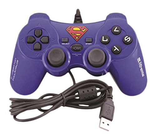 Xtreme 90319 Joypad USB, Superman, Compatibile con PC, Playstation 3