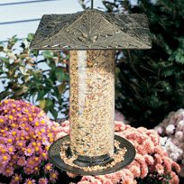 12 Inch Oakleaf Tube Feeder - French Bronze, French Bronze