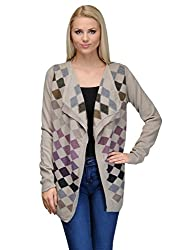 Curvy Q Full Sleeve Women's Beige Shrug
