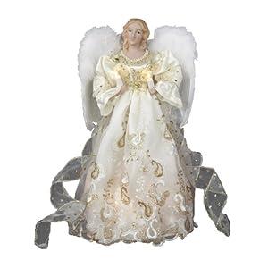 Kurt Adler UL 10 Light 14-Inch Gold Angel Treetop