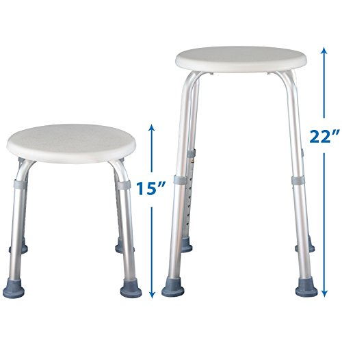 Shower Stool Adjustable Bath Seat Chair For Elderly Hanicapped Bathroom Safet