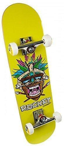 "Rocket Mini Tiki Tavola da skateboard 31"" 78cm completa - Tiki Terra, Legno"