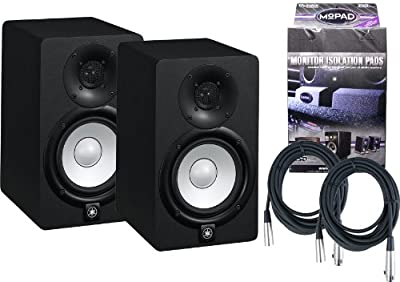 Pair of Yamaha HS5 70W Powered 2-way Studio Monitors w/ MoPads and Cables from Yamaha