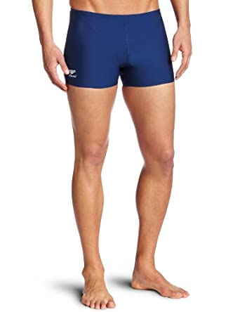 Buy Speedo Mens Race Endurance+ Polyester Solid Square Leg Swimsuit by Speedo