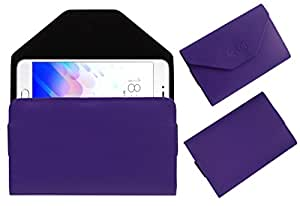 Acm Premium Flip Flap Pouch Case For Meizu M3s Mobile Leather Cover Magnetic Closure Purple