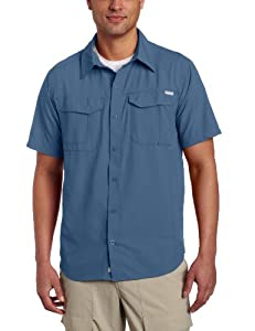 Columbia Men's Silver Ridge Short Sleeve Shirt, Small, Mountain