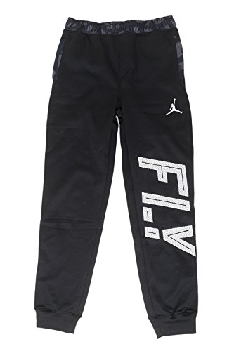 Jordan Big Boys' (8-20) AJ Camo Pieced Fleece Joggers-Black-Small