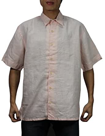Tommy Bahama Mens Button Down Short Sleeve Linen Camp