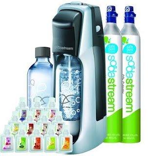 Sodastream Fountain Jet Soda Maker Starter Kit + Extra SodaStream 60-Liter Carbonator-Spare Cylinder (Soda Stream Refill Carbonator compare prices)