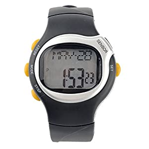 Pixnor® Sports Pulse Rate Monitor Calorie Counter Digital Wrist Watch with Alarm /Calendar /Stopwatch (Silver)