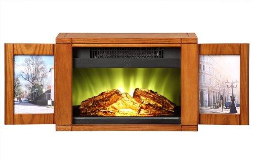 Muskoka Mpf-Bwl Electric Picture Frame Personal Fireplace With Multiple Setups