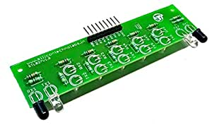 Silicon TechnoLabs IR sensor array for line follower and Obstacle sensing Robots.Interface with ARDUINO,AVR,PIC,ARM,MSP430|Silicon TechnoLabs