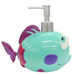 Allure home creations something 39 s fishy lotion for Fish soap dispenser