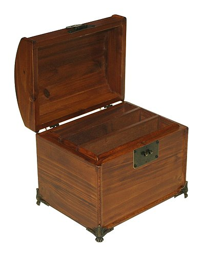 Mountain Woods Valencia Antique Style Recipe Box w/ Legs 1