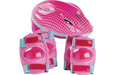Bike Helmet and Pad Set - Girls'. by Unbranded