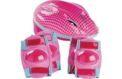 Bike Helmet and Pad Set - Girls'. by Unbranded