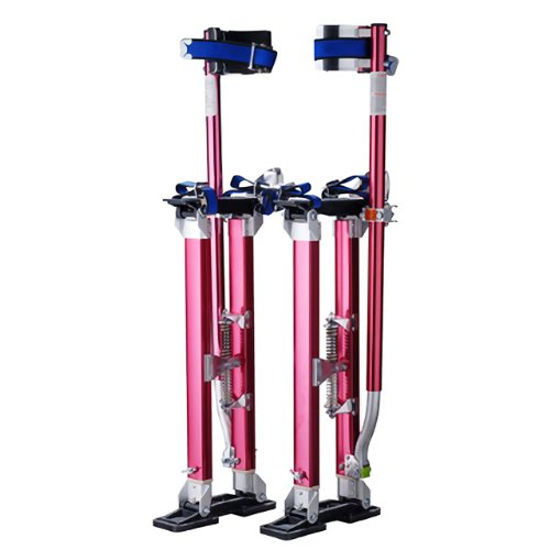 "Pentagon Tool ""Tall Guyz"" Professional 18""-30"" Red Drywall Stilts For Sheetrock, Painting, or Cleaning"