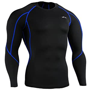 emFraa Homme Femme Sport Compression Black Base layer Tee-Shirt Long sleeve S