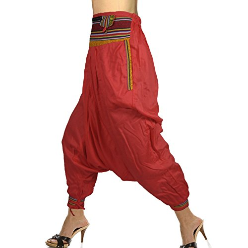 Indian Nepali Style Rayon Harem Pant Having 3 Belly And 2 Side Pockets