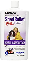 Lambert Kay Shed Relief Plus Dog and Cat Skin and Coat Liquid Supplement, 32 ounces