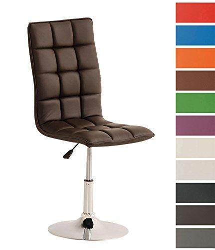 CLP-moderner-Esszimmer-Stuhl-PEKING-Lounge-Sessel-Charakter-Sitzhhe-verstellbar-40-54-cm-Sitzflche-drehbar-bis-zu-12-Farben-whlbar-braun