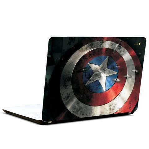 Pics And You Pics And You Captain America Logo On Shield Laptop Skin Decal
