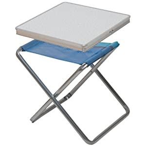 Camp 4 lido table with folding stool 62 x 41 x 6 cm for Folding table 6 x 4
