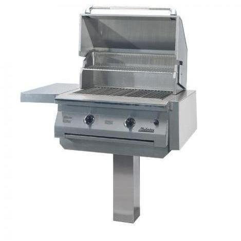 Solaire Gas Grills 30 Inch Infravection Natural Gas Grill With One Infrared Burner On In-ground Post