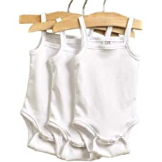 24 Month Pima Cotton Camisole Bodysuit 3-Pack