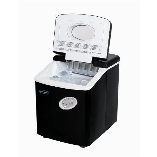 NewAir AI-100BK Portable Ice Maker In Black With Indicator Lights