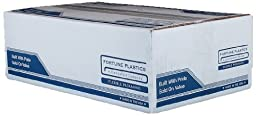 Fortune Plastics DuraRoll LDPE 60 Gallon Waste Can Liner, Star Seal, Black, 1.5 Mil, 58\