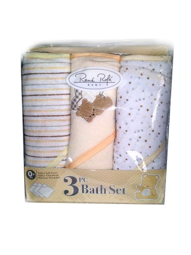 Rene Rofe Baby Boy 3 Hooded Towels Set - Yellow